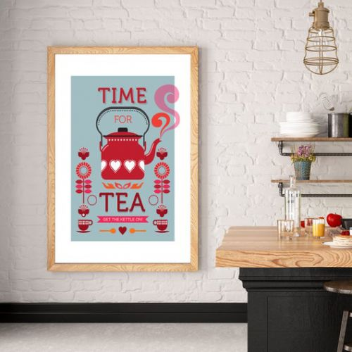 Poster vintage cucina - Time for tea