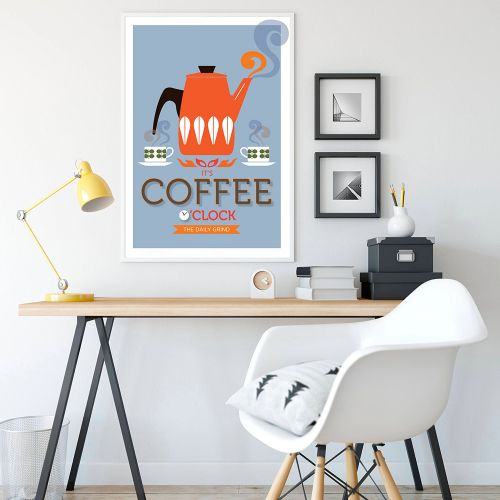 Poster vintage cucina - Coffee o'clock